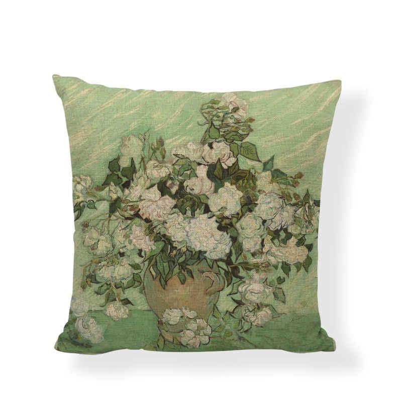 Funda de almohada para sofá, funda de cojín de cuento de hadas, hermosa pintura al óleo, paisaje de jardín, campos de campo, Venta caliente
