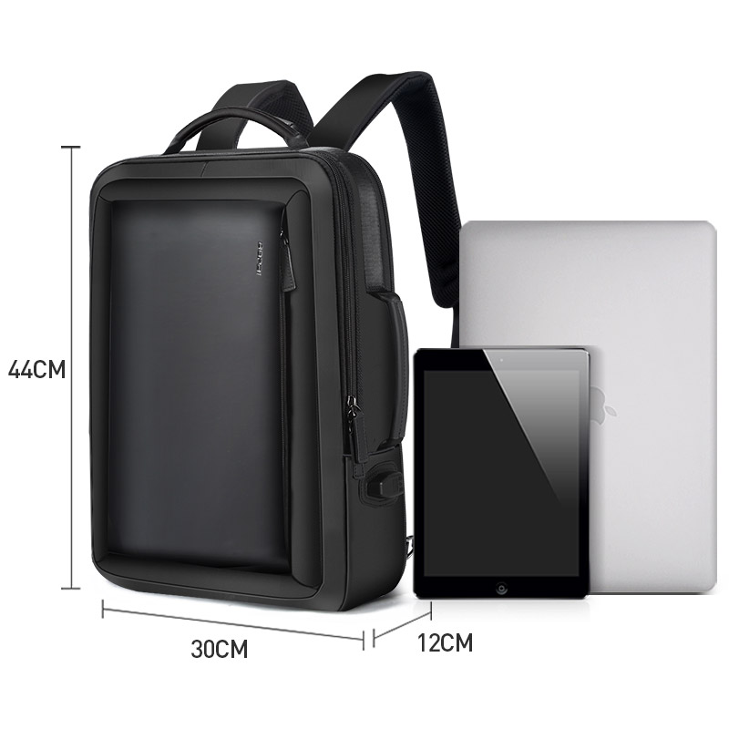 BOPAI Men Backpack Enlarge Anti theft Laptop Backpack for 15 6 Inches USB External Charge Multifunction Business Backpack Men in Backpacks from Luggage Bags
