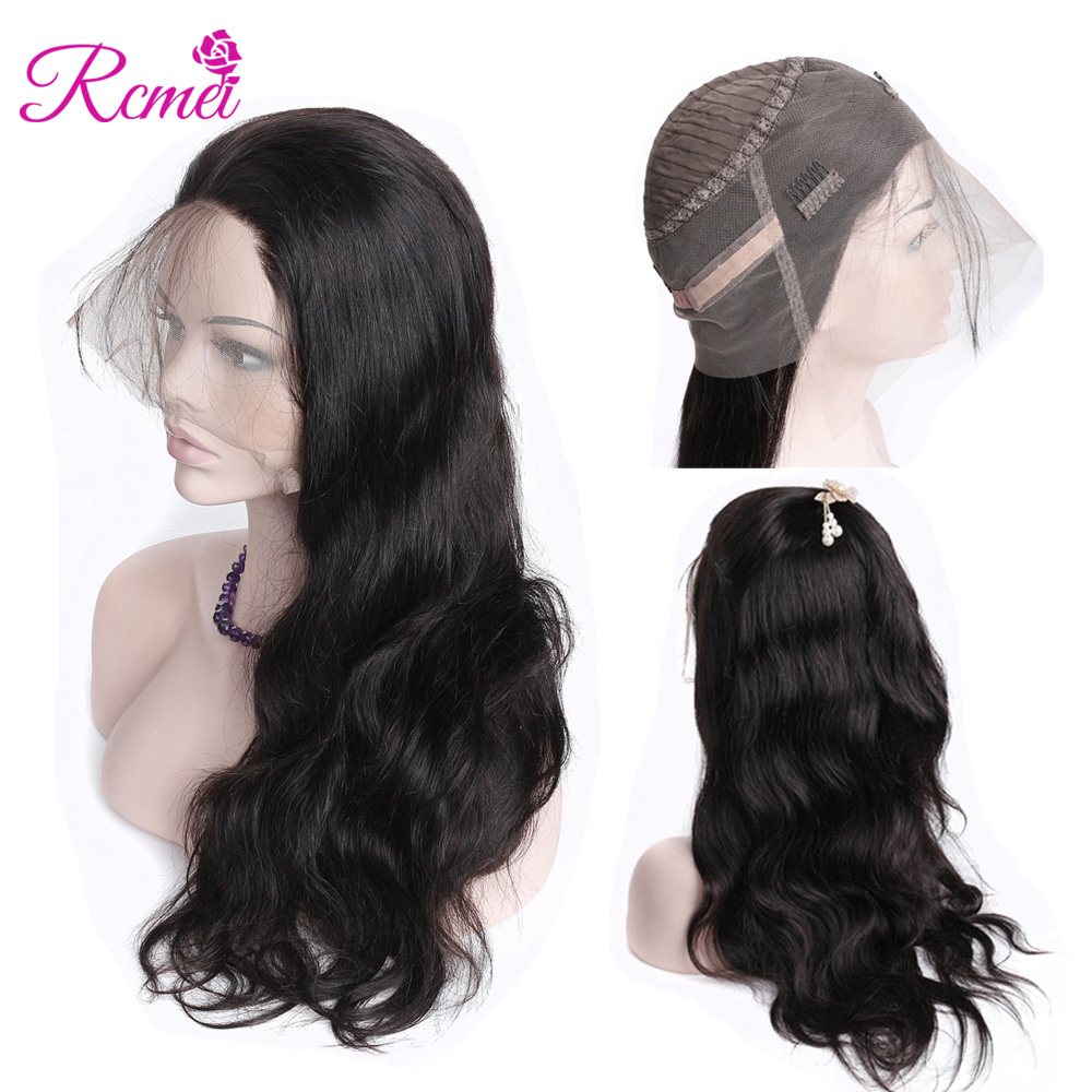Rcmei 360 Lace Frontal Wigs Pre Plucked With Baby Hair Can Make Ponyhair Brazilian Body Wave