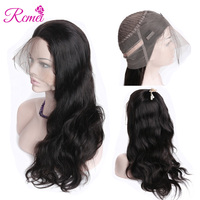 Rcmei 360 Lace Frontal Wigs Pre Plucked With Baby Hair Can Make Ponyhair Brazilian Body Wave Remy Hair Front Wigs 150 Density