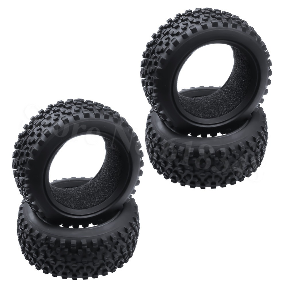 4PCS RC 1/10 Scale Buggy Tires Front and Rear With Foam Inserts OD: 85mm/3.34 ID: 56mm/2.2 For Redcat HSP HPI Racing Model Car hsp 02024 differential diff gear complete 38t for 1 10 rc model car spare parts fit buggy monster