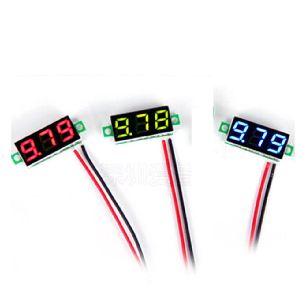 0 28 Inch 2 5V 30V Mini Car Digital Voltmeter Voltage Tester Meter LED Screen font