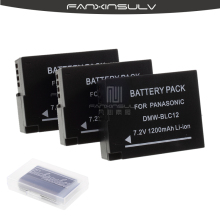 3Pcs DMW-BLC12 DMW BLC12 Battery + 3 Battery case For Panasonic Lumix G6 G5 G7 FZ1000 FZ200 Camera Replacement Battery Batteria недорого
