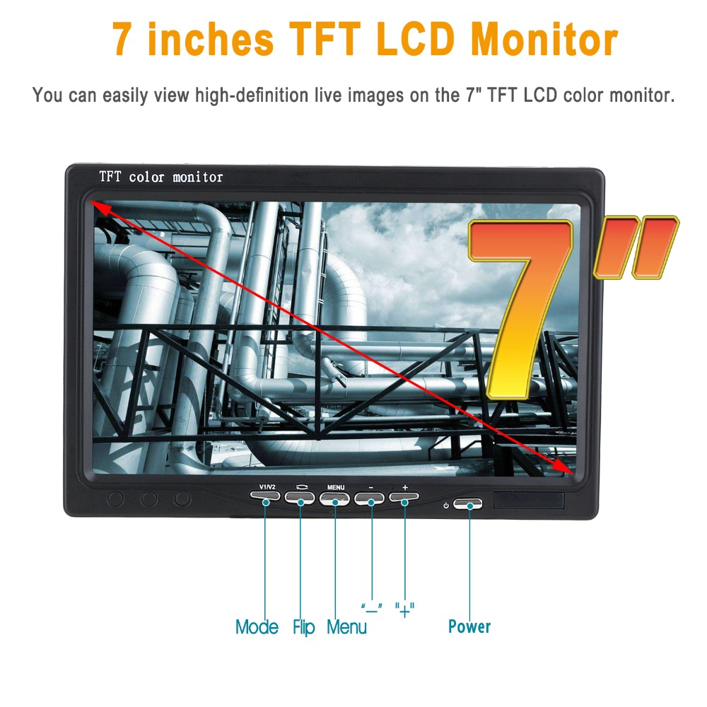 """Image 5 - SYANSPAN 7"""" Wireless WiFi 20/50/100M Pipe Inspection Video Camera,Drain Sewer Pipeline Industrial Endoscope support Android/IOS-in Surveillance Cameras from Security & Protection"""