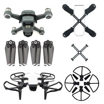 Sunnylife para accesorios DJI Spark 4730 hélice + fijador de hélice + protector de hélice con tren de aterrizaje + cubierta de hebilla de batería