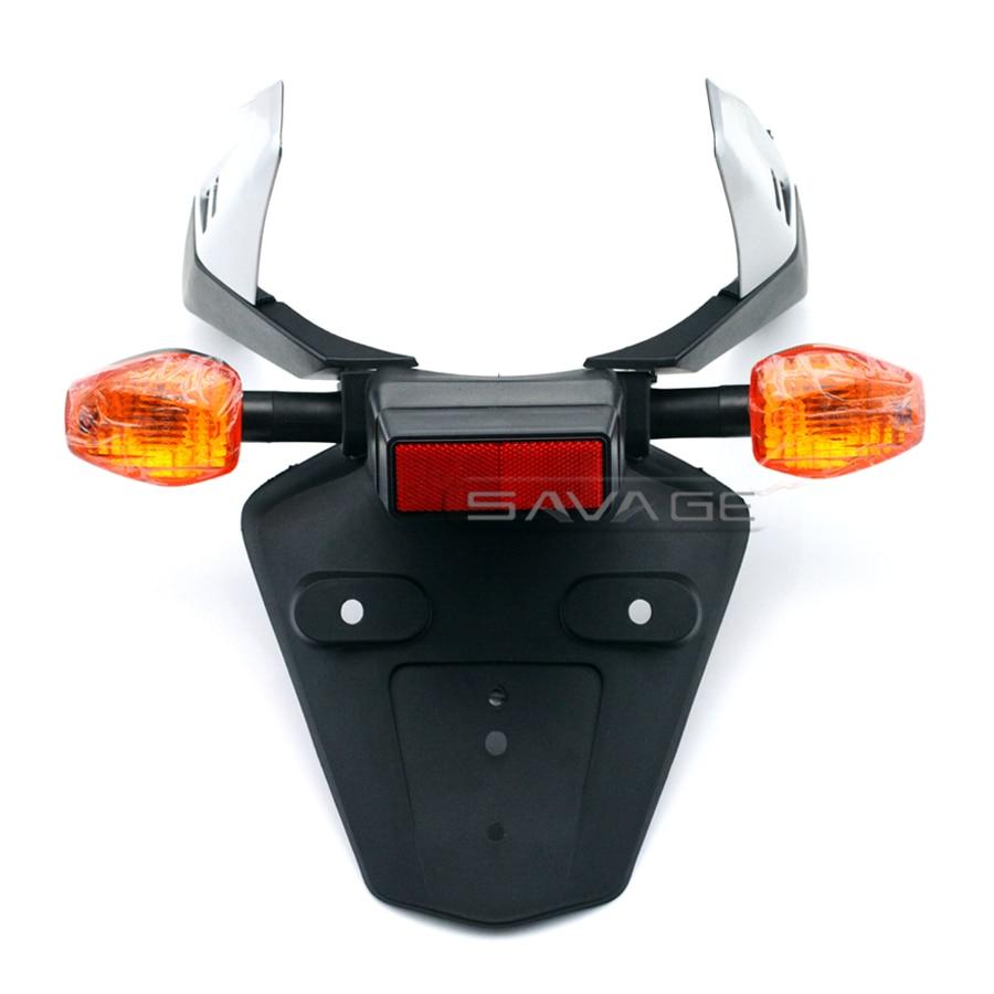 For HONDA CBR 600RR CBR600RR 2003-2006 Motorcycle Fender Eliminator Registration License Plate Holder Bracket with Turn Signal motorcycle part fender eliminator tidy tail for honda cbr 600rr 2003 2006 cbr1000rr 2004 2007 black