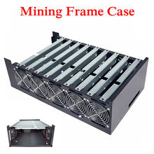 Open Air DIY 9GPU Crypto Coin Mining Server Frame Rig Graphics Case + 10 Fans for ATX Computer Mining Case Frame Server Chassis