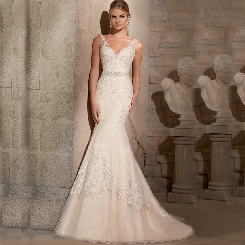 Buy v neck spaghetti strap backless for Spaghetti strap backless wedding dress
