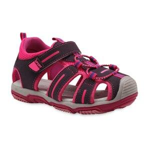 Image 4 - Apakowa nowe dziewczyny sportowe sandały plażowe wycinanka letnie buty dziecięce maluch sandały zamknięte Toe dziewczyny sandały dziecięce buty ue 21 32