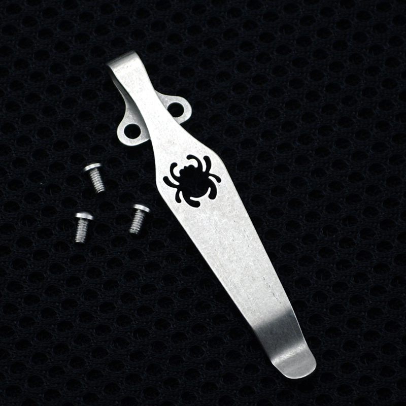 Spider Clip Design Knife Button Pocket Clip For Knife Material Titanium EDC Knife Clip Belt Flashlight K Sheath Multi Tools