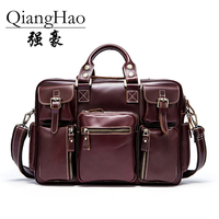 Classic Design 100 Real Cowhide Large Size Leather Briefcases Men Casual Business Man Bag Office Briefcase