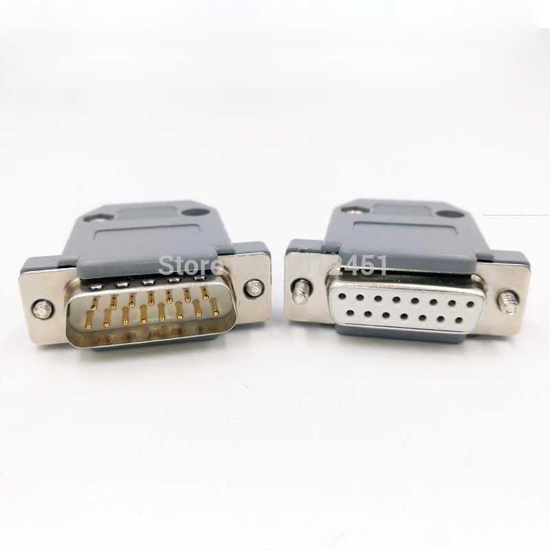 DB15 データケーブルコネクタプラグ VGA プラグ 3 行 D 型コネクタ 15pin ポートソケットアダプタ女性 & 男性 DP15