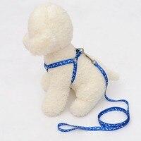 Печать ошейник мягкая шлейка для собаки жилет с веревкой прочный дышащий Pet жилет удобные домашних животных