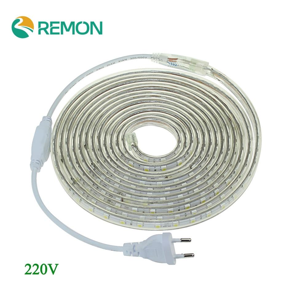 buy led strip ligh 5050 220v waterproof led tape flexible strip 60 leds meter. Black Bedroom Furniture Sets. Home Design Ideas