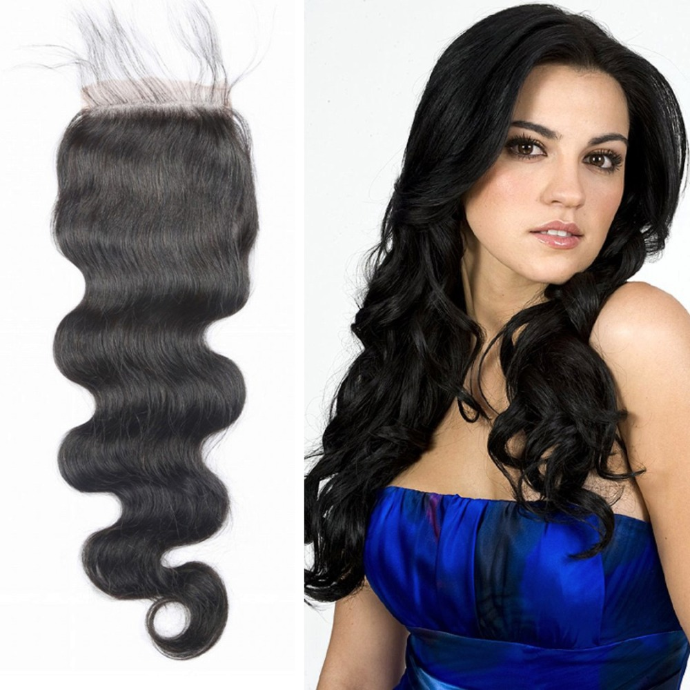 Where to buy hair closures - Cheap Lace Closure With Bleached Knots Virgin Hair 4x4 Middle Free 3 Part Peruvian Body Wave