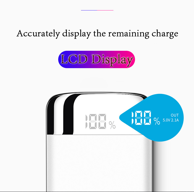 30000mah Power Bank External Battery Bank Built-in Wireless Charger Powerbank Portable QI Wireless Charger for iPhone XS Max 8 7