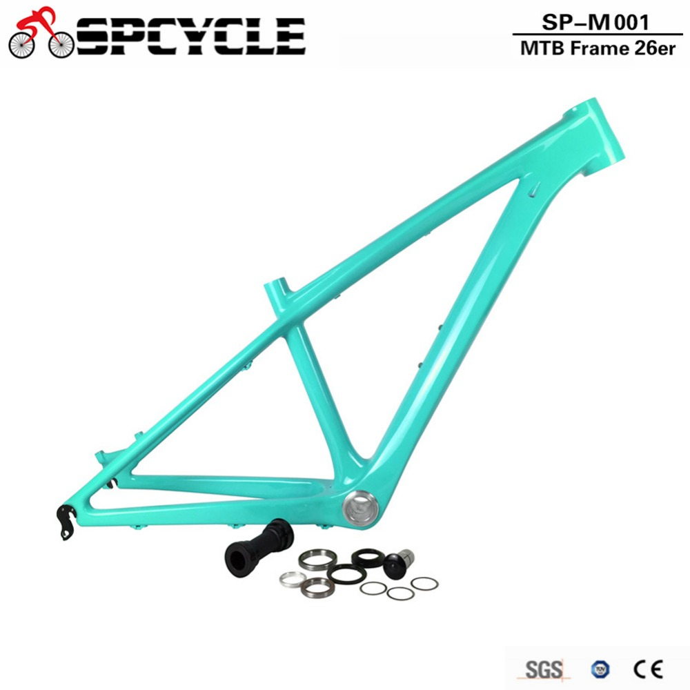 Smileteam 26er Carbon MTB Mountain Bike Frame T800 Carbon 14inch 16inch MTB Bicycle Frame For Women And Child 2 Year Warranty