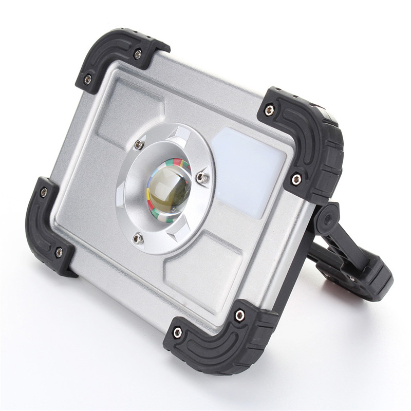 30W COB LED Portable Rechargeable LED Spotlight Work Camping Outdoor Lawn Lamp LED Flood Light cob led flood light dimmable 100w portable led floodlight cordless work light rechargeable spot outdoor working camping lamp