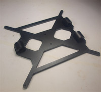 Blurolls aluminum alloy PRUSA I3/rework/MK2 6MM HEATED BED SUPPORT with aluminum alloy LM8UU holder