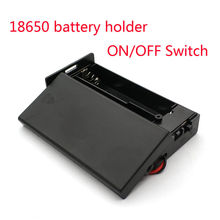 7 4V 18650 Battery Case Holder 2 Slots Wired Battery Storage Box with ON OFF Switch