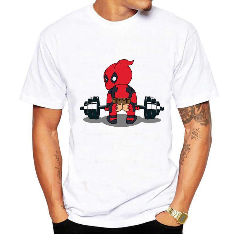 新おかしいデッドプール tシャツ男性プリントファッション Tシャツパンクデッドプールおかしいデザイントップスストリートクール tシャツ漫画のヒップスタートップス