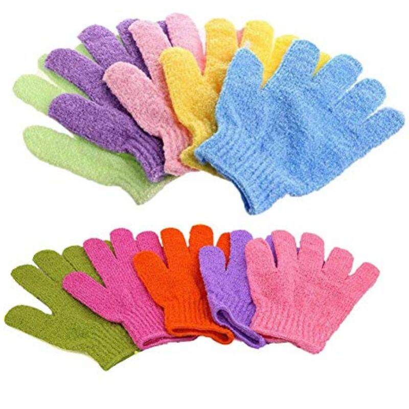 Double Side Durable Exfoliating Skin Spa Bath Scrubs Bathing Gloves Shower Soap Clean Hygeine LX7161