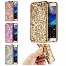 CHANHOWGP Bling Glitter Caso Do Silicone Para Samsung Galaxy i9500 S4 Escudo Do Telefone i9505 Funda para Mini I9190 Galaxy S4 GT-I9192 cobrir(China)