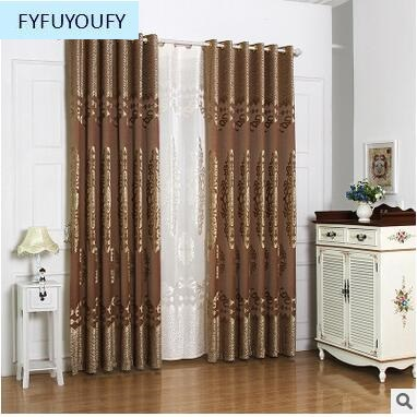 European Luxury Jacquard Curtain For Bedroom Window Curtains Living Room Elegant D