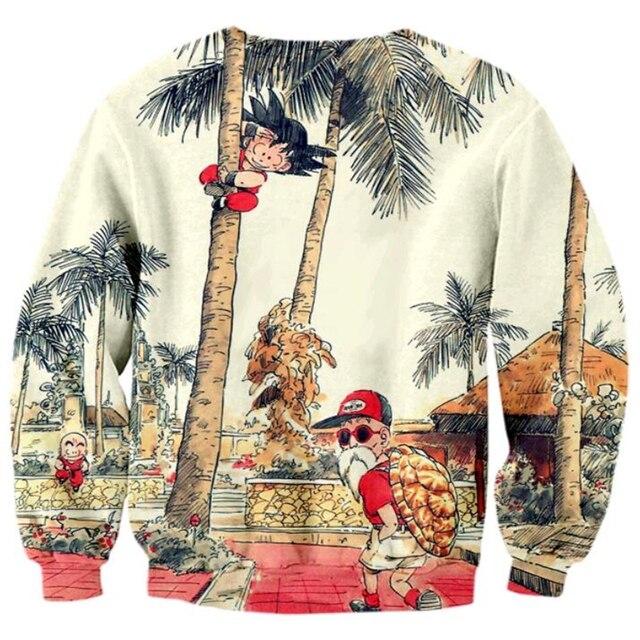 Kid Goku and Master Roshi Prints Sweatshirts