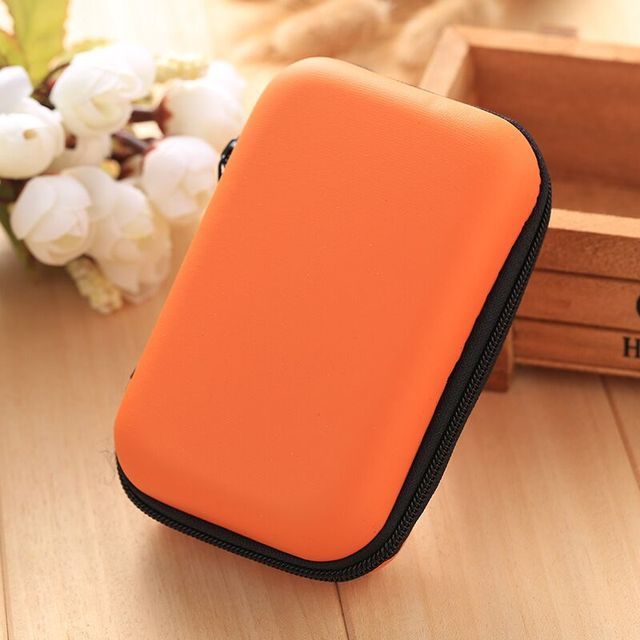 Storage Bag Case For Earphone EVA Headphone Case Container Cable Earbuds Storage Box Pouch Bag Holder(without earphone)