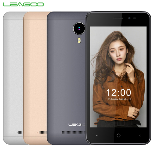 Original Leagoo Z5 MT6735M Celltphone Lte 1 GB RAM 8 GB ROM Quad Core 5 pulgadas Android 5.1 854x480 IPS 5.0MP Cámara Smartphone