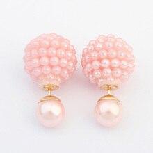 Krásné dvojité perlové náušnice v 5ti barvách