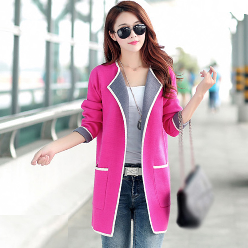 5XL Autumn Winter Jacket Women Coats 2019 Plus Size Knitted Cardigan Jackets Female Outerwear Casual Pocket Coat Jaqueta Mujer 1