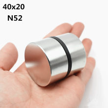 2pcs Neodymium Magnet N52 40x20 mm Super Strong Round Rare earth Powerful NdFeB Gallium metal magnetic speaker N35 40*20 Disc(China)