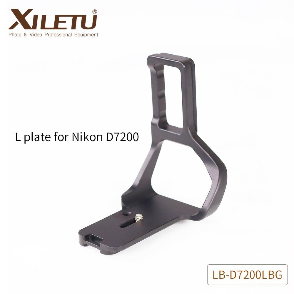 XILETU LB-D7200LBG Professional Camera Tripod Stand Quick Release Plate Aluminum Mounting Bracket For Nikon D7200