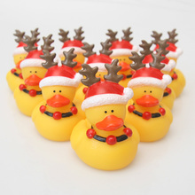 Multiple bath toys with big yellow duck swimming float mini Christmas yellow floating rubber duck squeezing children's gifts for