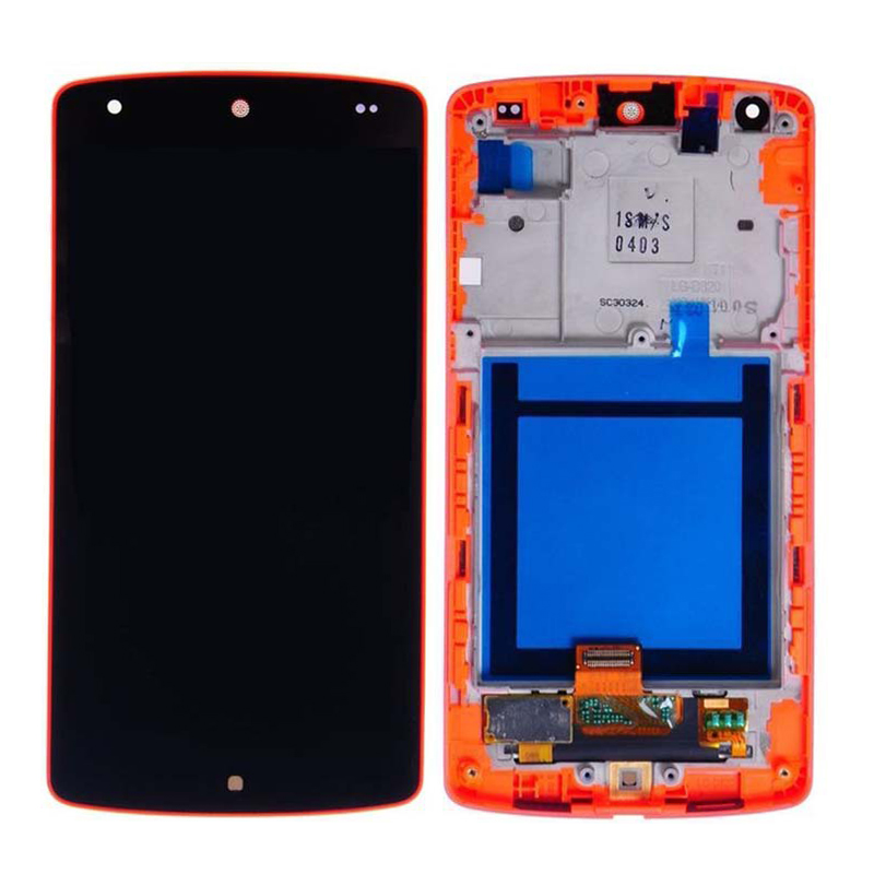 New LCD Display With Touch Screen Digitizer + Red Frame Assembly For LG Google Nexus 5 D820 D821, Free Shipping&Tracking Number for lg google nexus 5 d820 d821 lcd with touch screen digitizer frame assembly free shipping