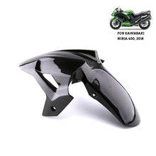 Motorcycle Accessories Real Carbon Fiber Front Fender Splash Mud Dust Guard Mudguard For Kawasaki Ninja 400 2019  #WL1