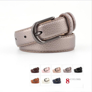 2018 New Ladies Waistbands GirdlePink White Blue 1 inch Leather Belt Womens Vintage Pin Buckle Strap Belts for Women Jeans Pants