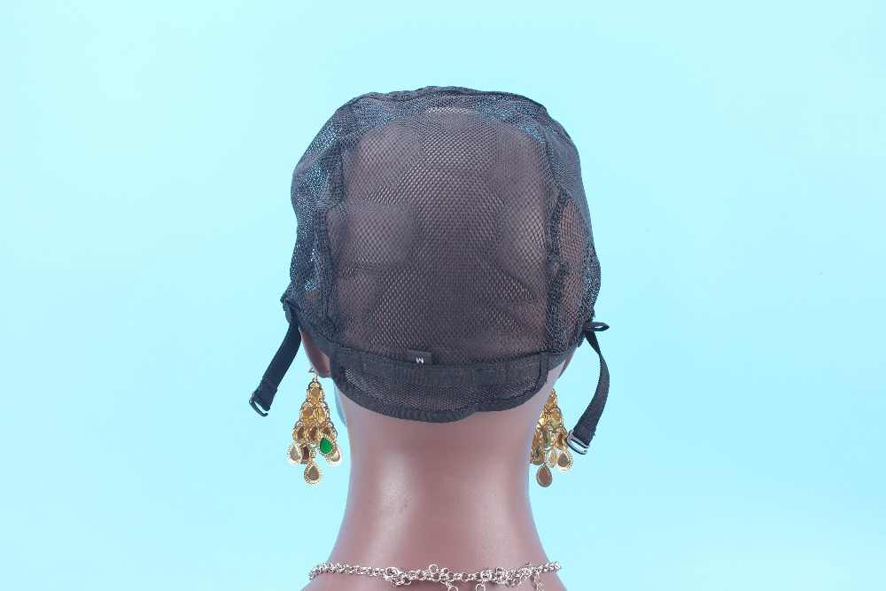 S/M/L wig cap black color Making Cap Top Stretch Weaving Cap Back adjustable Strap for making wigs