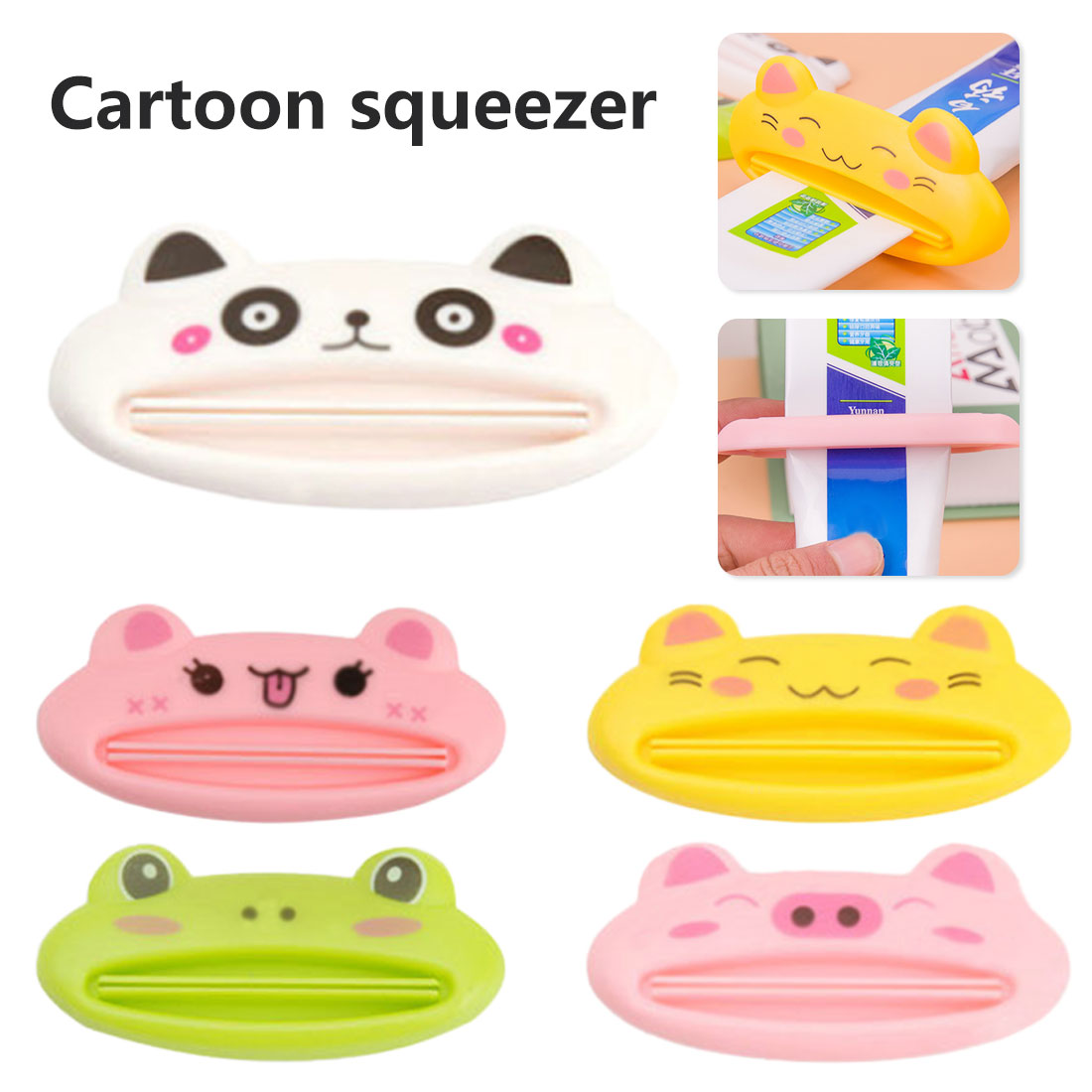 Home Cute Animal Multi function squeezer toothpaste squeezer Home Commodity Bathroom Tube Cartoon Toothpaste Dispenser