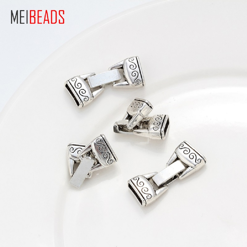 MEIBEADS 5pcs/lot Antique Silver Alloy Connector Jewelry Accessories For Necklace Pendant End Cap Jewelry findings Making EY1084MEIBEADS 5pcs/lot Antique Silver Alloy Connector Jewelry Accessories For Necklace Pendant End Cap Jewelry findings Making EY1084