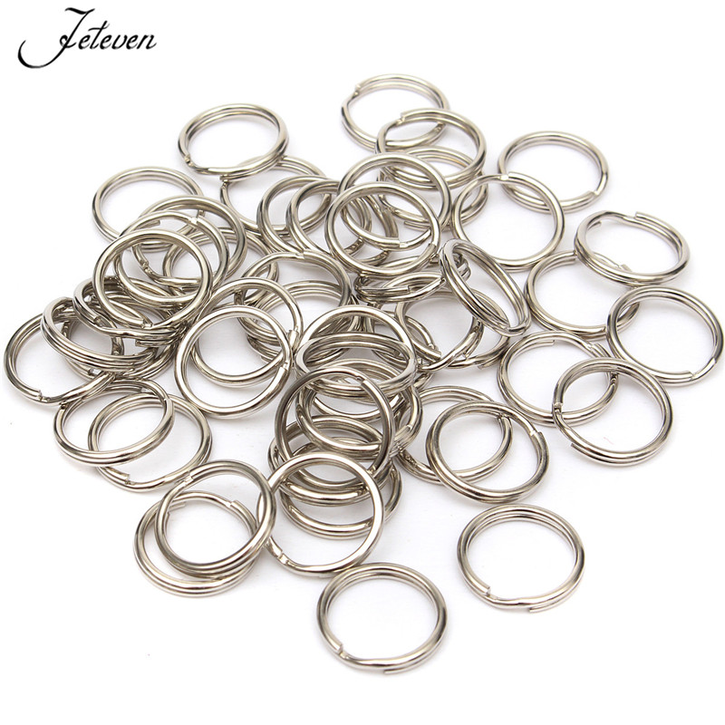 Double Loop Split Key Ring Keychain Jump Rings Round Wire Keyfob 4-14mm DIY Lots