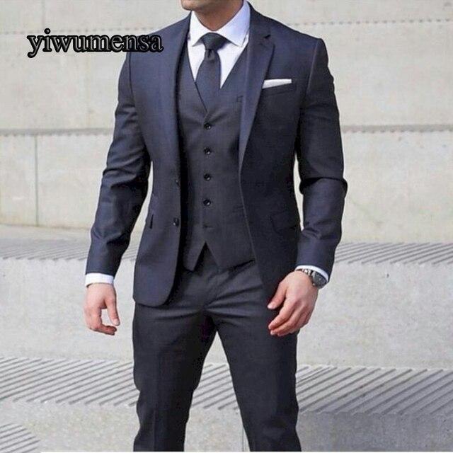 Y514 traje homme mariage 2018 traje hombre traje de los hombres slim azul  marino para hombre 3122bfbf85c5