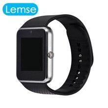 Smart watch gt08 reloj con ranura para tarjeta sim empuje mensaje conectividad bluetooth teléfono android mejor que smartwatch dz09