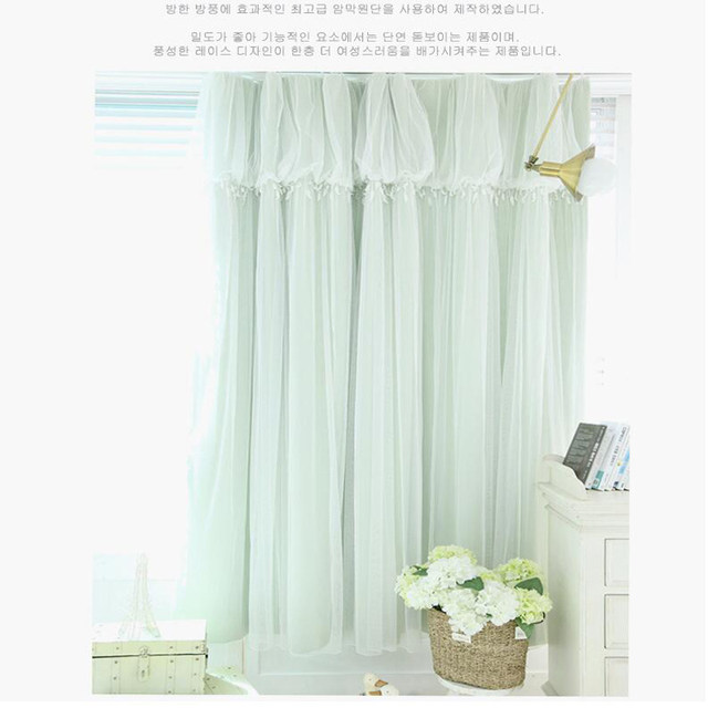 Torino Tassels Lanterns Head Thermal Curtain Ivory Color Cloth Voile Sheer Black Out Fabric Bedroom Custom Living Window