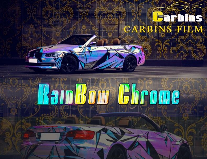Carbins пленка Радуга хром винил автомобиля обертывание зеленый в золотой цвет, новые продукты