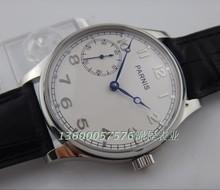 Cuello de ganso ST3600 PARNIS esfera blanca movimiento reloj al por mayor de cadena de la mano de los hombres mecánicos