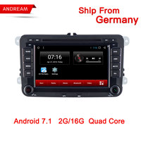 7 Inch Car GPS Navigation Multimedia Player Autoradio 2 Din For Volkswagen/VW/ Passat/POLO/GOLF/Skoda/Seat/Leon Android 7.1