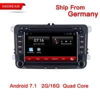 7 Inch Car GPS Navigation Multimedia Player Autoradio 2 Din For Volkswagen/VW/ Passat/POLO/GOLF/Skoda/Seat/Leon Android 7.1